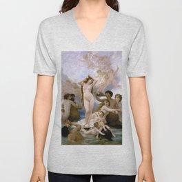 """William-Adolphe Bouguereau """"The Birth of Venus"""" Unisex V-Neck"""