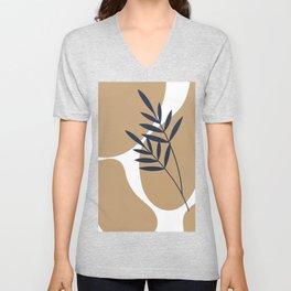 Geometry Plant Modern Art Unisex V-Neck