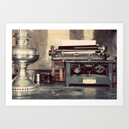the letter Art Print