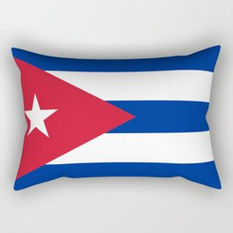 Flag of Cuba - Authentic version (High Quality Image) Rectangular Pillow