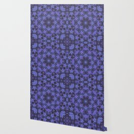 Blue and Purple Kaleidoscope 2 Wallpaper