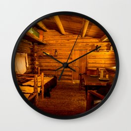 Officers Quarters Fort Clatsop - Lewis And Clark Wall Clock