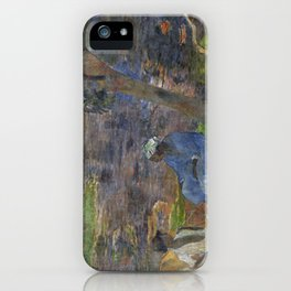 1887 - Gauguin - On the shore of the lake at Martinique iPhone Case