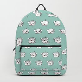 Pitbull Loaf - White Pit Bull with Floppy Ears Backpack