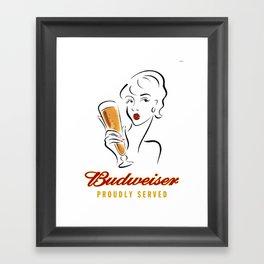 Beer Poster Framed Art Print