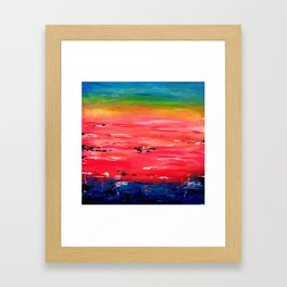 Crimson Sunset Framed Art Print