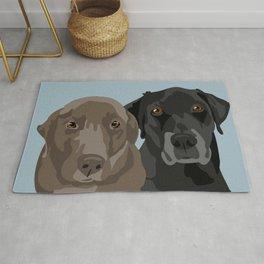 Two Labradors Rug