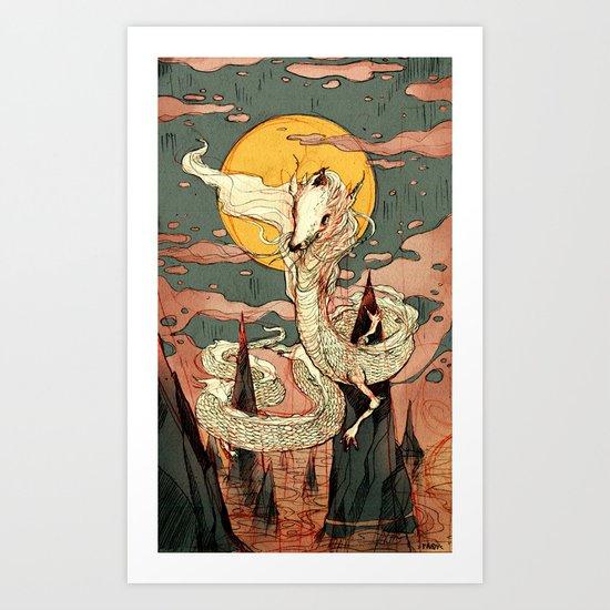 lucky dragon Art Print