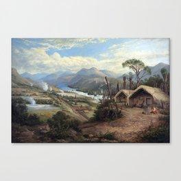Charles Blomfield Orakei Korako on the Waikato Canvas Print
