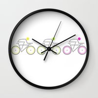posters Wall Clocks featuring Olympic Posters - Cycle 2 by Samar