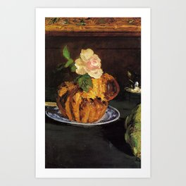Still Life with Brioche by Édouard Manet Art Print