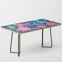 Flowers and Cactus Coffee Table