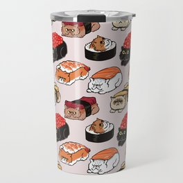 Sushi Persian Cat Travel Mug