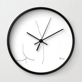 Picasso Line Art - Butt Wall Clock