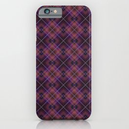 Black and Burgundy plaid iPhone Case