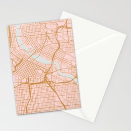 Minneapolis map, Minnesota Stationery Cards