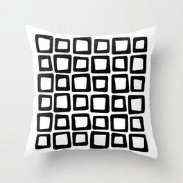 Mosaic - Black & White Throw Pillow