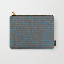 Web Design Words Carry-All Pouch