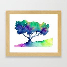 Hue Tree III Framed Art Print