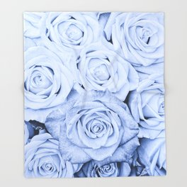 Some people grumble - Blue Rose, Floral Roses Flower Flowers Throw Blanket