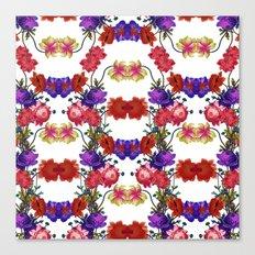 Botanical Floral Pattern M Canvas Print