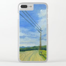 Vermont Backroad Clear iPhone Case