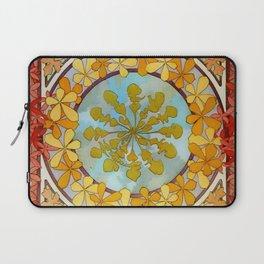 "Alphonse Mucha ""Pattern with leaves"" Laptop Sleeve"