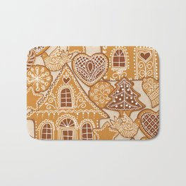 Gingerbread cookies Bath Mat