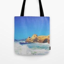 Cape Kiwanda Crashing Waves Tote Bag