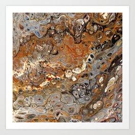 Earth Tones Lava Flow Art Print