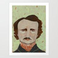 poe Art Prints featuring Poe. by Arrolynn
