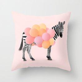 PARTY ZEBRA Throw Pillow