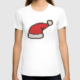 Knitting wool santa hat T-shirt