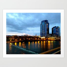 It Was A Cold Night in Grand Rapids Art Print