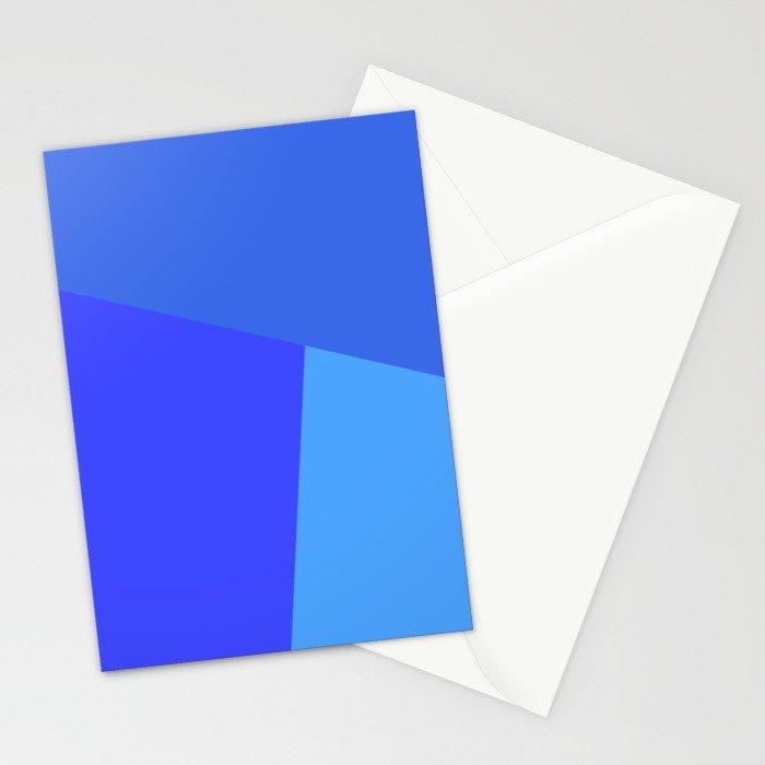 dégradé trapèze bleu roi Stationery Cards