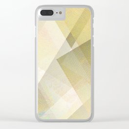 Gold and White - Digital Geometric Texture Clear iPhone Case