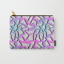 Gnarly - retro memphis throwback pattern print 1980s 80's style minimal modern pop art neon hipster Carry-All Pouch