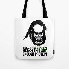 Tell This Vegan Gorilla Monkey Vegetarian Muscle Power Gift Tote Bag