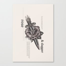 Rose & Dagger Canvas Print