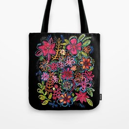Meadow on black Tote Bag