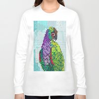 parrot Long Sleeve T-shirts featuring Parrot  by Kanika Mathur Design