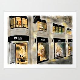 Boss shop Art Print