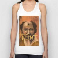 klimt Tank Tops featuring 50 Artists: Gustav Klimt by Chad Beroth