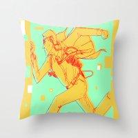 runner Throw Pillows featuring Runner by gallerydod