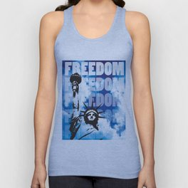 Freedom - Blue Unisex Tank Top