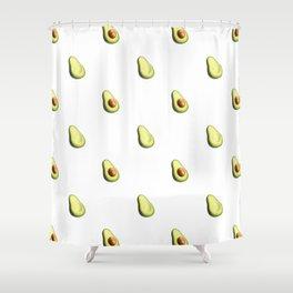 'ave an Avo! - White Print Shower Curtain