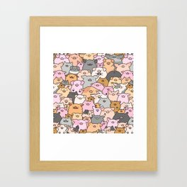 Pigs, Piglets & A Swine! Framed Art Print
