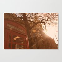 telephone Canvas Prints featuring Telephone. by Beth Retro