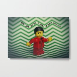 That gum you like is going to come back in style. Metal Print