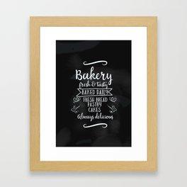 Bakery Chalkboard poster Framed Art Print
